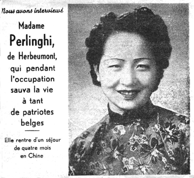 After the war, a Belgian newspaper had a report about Qian Xiuling. (Image: Sina.com)