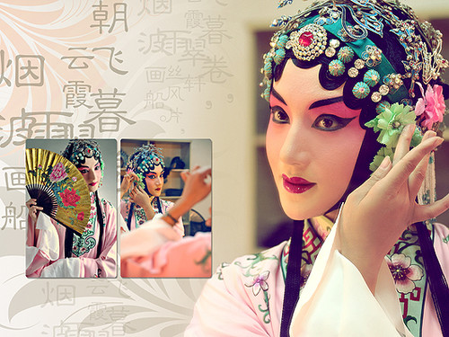 The actress preparing for a famous Kunqu opera, The Peony Pavilion. (Image: Sina blog)