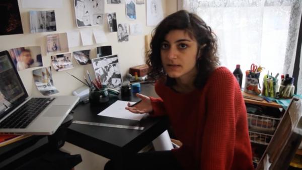 Graphic Novelist Leila Abdelrazaq. (Screenshot/Vimeo)
