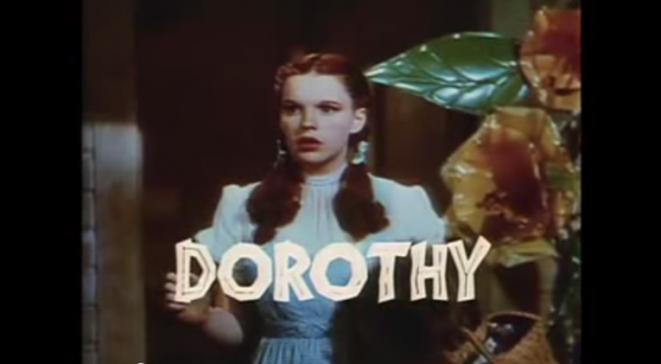 Judy Garland played Dorothy in Wizard of Oz. (Screenshot/YouTube.)