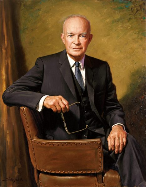 The official White House portrait of Dwight D. Eisenhower. (Image: Wikipedia)