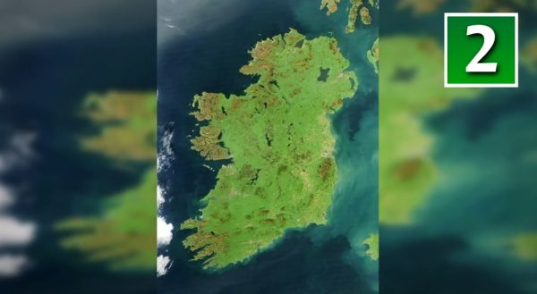 Ireland has lush vegetation, a product of its mild but changeable oceanic climate, which avoids extremes in temperature. Hence its very green tinge. (Screenshot/YouTube)