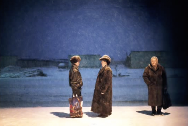 RUSSIA. Birobidzhan, The Jewish Autonomous Region. 1999. The first Jewish homeland of modern time, created 20 years before Israel, located in Far-East Siberia. People waiting for the morning bus in the freezing winter, which often reaches -40 Celcius. (Screenshot/YouTube)