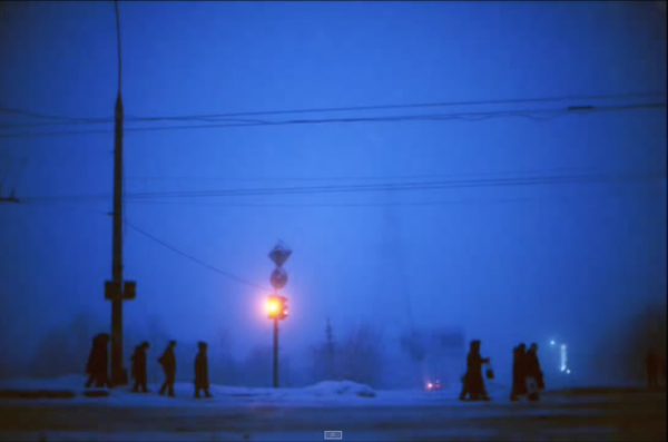 MOLDOVA. Transdniester. 2004. People headed to work in the morning. (Screenshot/YouTube)