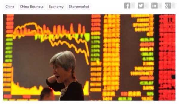 As China investment bubble crashes and stock values fall, many commoners are literally left with debt upon debt. (Image:Screenshot/YouTube)