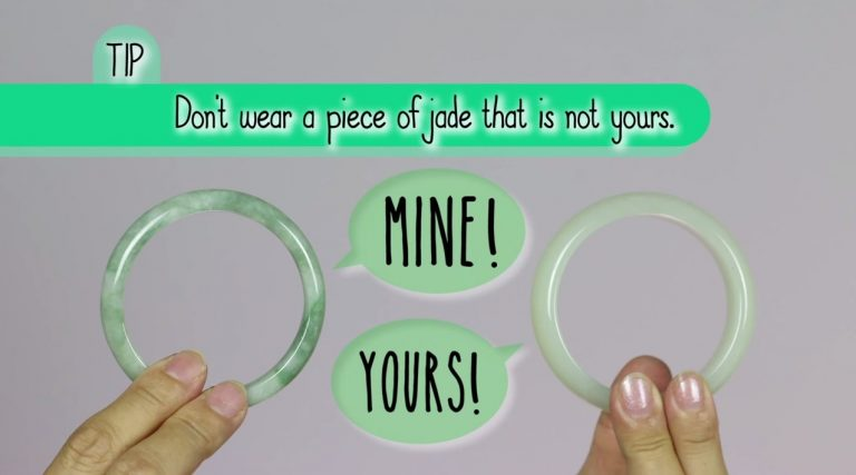 Chinese believe jade is a living thing and that only you can wear your piece of jade, like your jade bracelets.