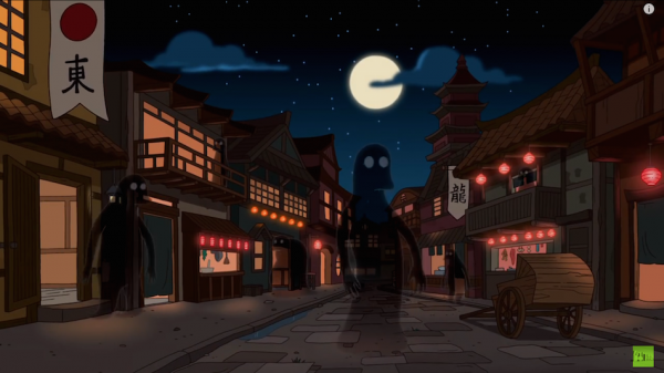 Streets and Spirits from Spirited Away. (Screenshot/Youtube)