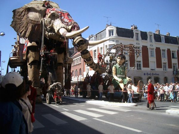 The Girl Giant and Visit Of The Sultan Of The Indies On His Time-Travelling Elephant 2005. (Image: Flickr / Olivier Duquesne)