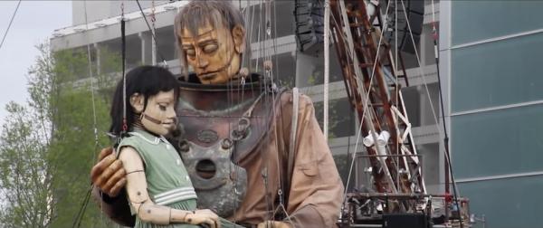 Little Girl-Giant and Uncle Hug. (Screenshot/YouTube)