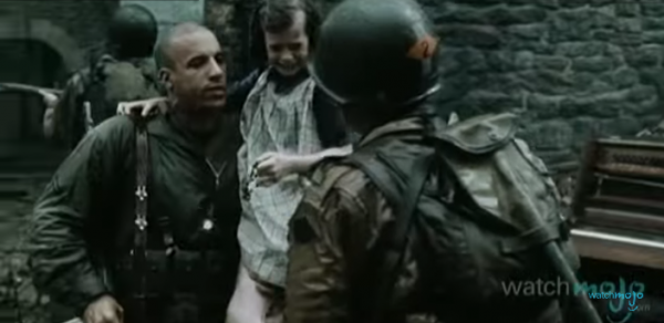 Vin Diesel's role in Saving Private Ryan was short was memorable. (Screenshot/YouTube.)