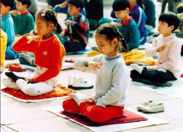 falun-dafa-children-practice-china