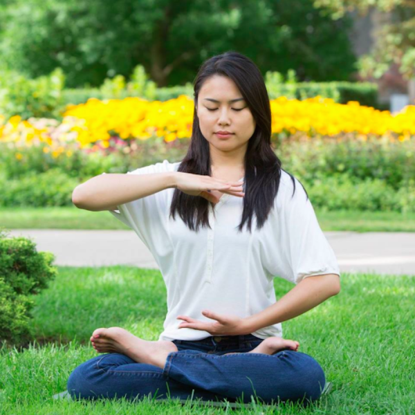 Meditating together in parks was a favorite pass time for practitioners before the persecution began. (Image: Kamun Pun/Facebook)