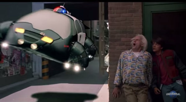 Would be great if we did have flying cars. (Screenshot/YouTube.)