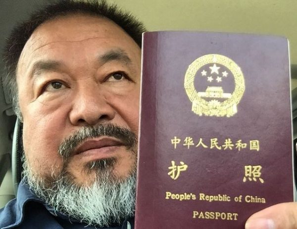 Authorities have returned Ai's passport after confiscating it four years ago. It was taken after he was arrested in 2011 during the government crackdown on political activists. Image: aiww/Instagram