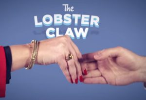The 'lobster claw' handshake comes across as a superiority complex (Image:BusinessGovAu/Youtube Screenshot)