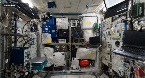 . The interactive tour gives us a glimpse of what the ISS looked like in June 2015. Image: European Space Agency