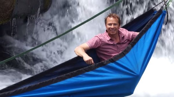 Benjamin H Frederick the master mind of the Hydro Hammock. (Screenshot/YouTube)