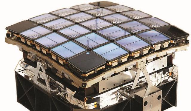Kepler's image sensor array. The array is curved to account for Petzval field curvature. (Image: Dr. David Koch, Kepler Deputy Principal Investigator - National Space Agency)