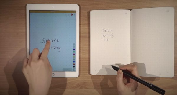 The pen that promises to fuse paper and smartphones while bringing back the paper-note book. (Image: Screenshot/Youtube)