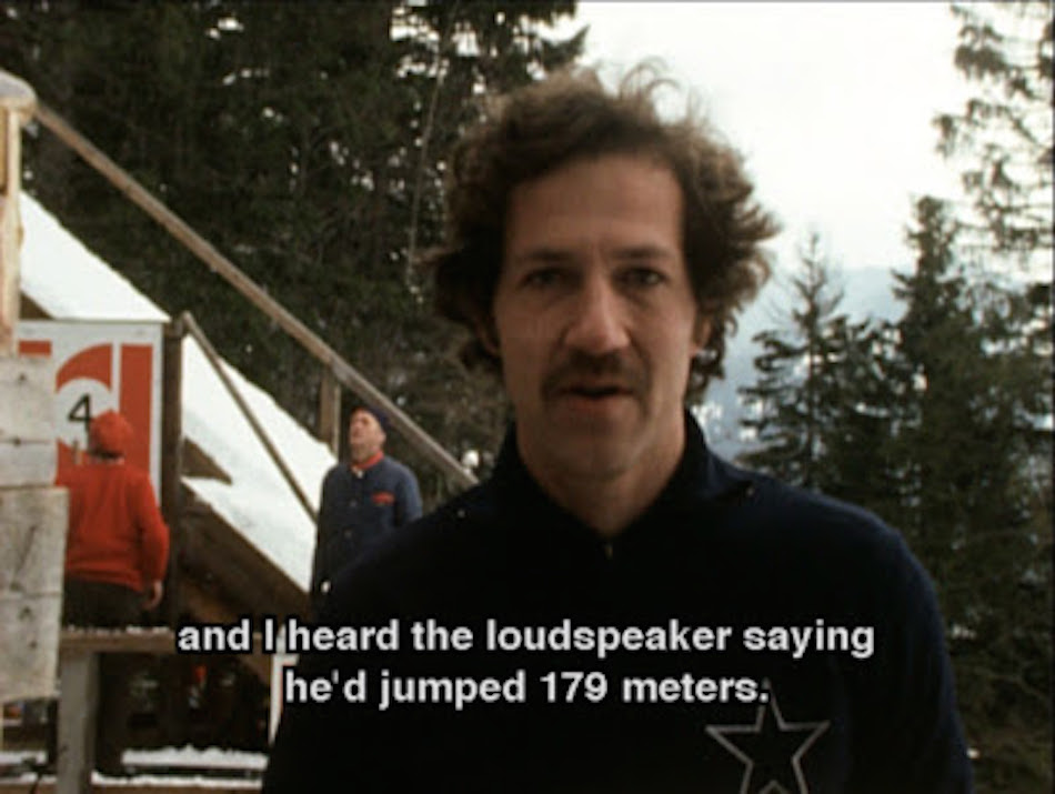 Herzog reporting Steiner had broken the world record by ten meters. (Image via jessicabrr / YouTube Screenshot)