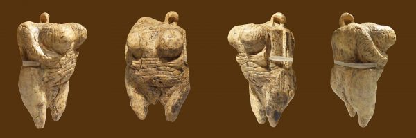 "Original Venus from Hohle Fels, mammoth ivory, Aurignacian, aged about 35-40000 years. Discovered in September 2008 in the cave ""Hohler Fels"" in the Ach Valley near Schelklingen, Germany. (Image: Thilo PARG via Wikipedia / CC BY 3.0)"