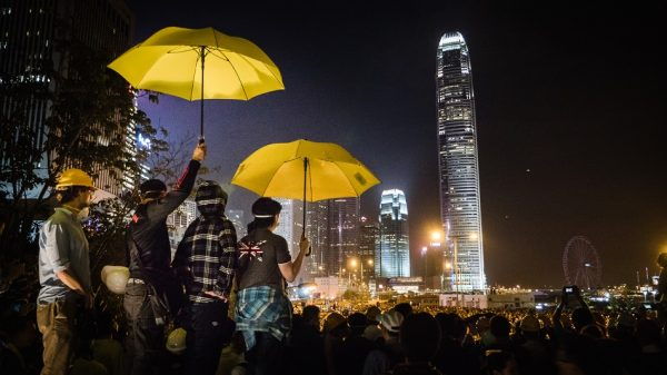 A night during 2014's pro-democracy protest in Hong Kong. (Image: Studio Incendo via Flickr/CC BY 2.0 )