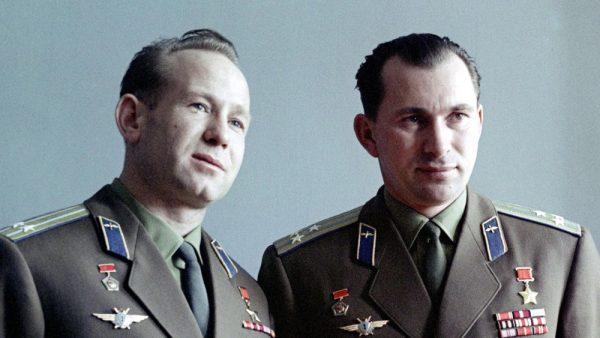 Vokshod-2 crew: Alexei Leonov (left) and Pavel Belyayev (right) (credits: RIA Novosti)