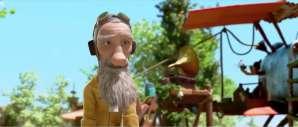 The Elderly Aviator is played by the voice of Jeff Bridges. (Image: Paramount Pictures via YouTube/Screenshot)