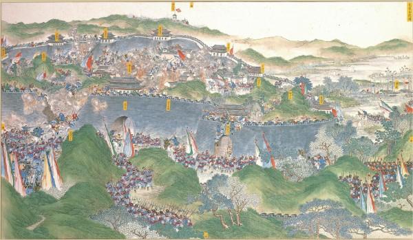 The Xiang Army recapturing Jinling, a suburb of the Taiping capital, July 19, 1864. (Image: https://en.wikipedia.org/wiki/Xiang_Army#/media/File:Regaining_Jinling.jpg / CC0 1.0)