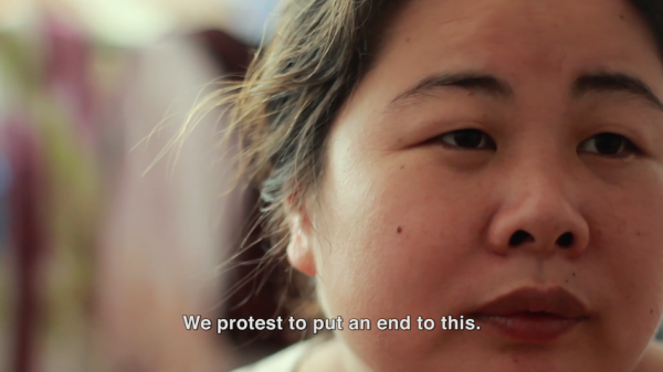 The brave Ye Haiyan in what seems an impossible task to stand up to human rights abuse in China. (Image: Little Horse Crossing the River via Vimeo/Screenshot)