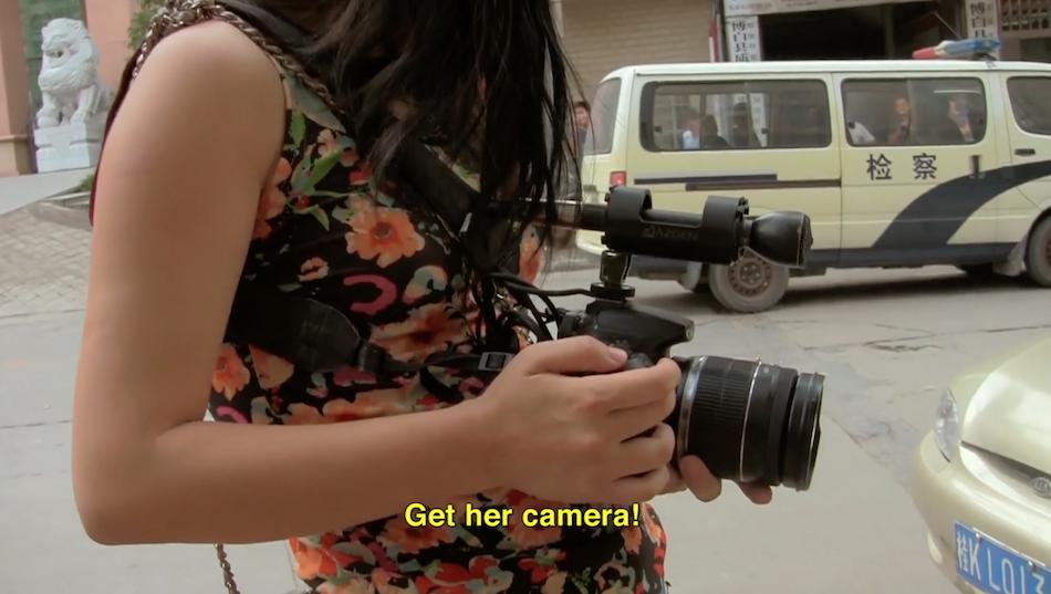 Filmmaker Wang Nanfu becomes a target. (Image: Little Horse Crossing the River via Vimeo/Screenshot)