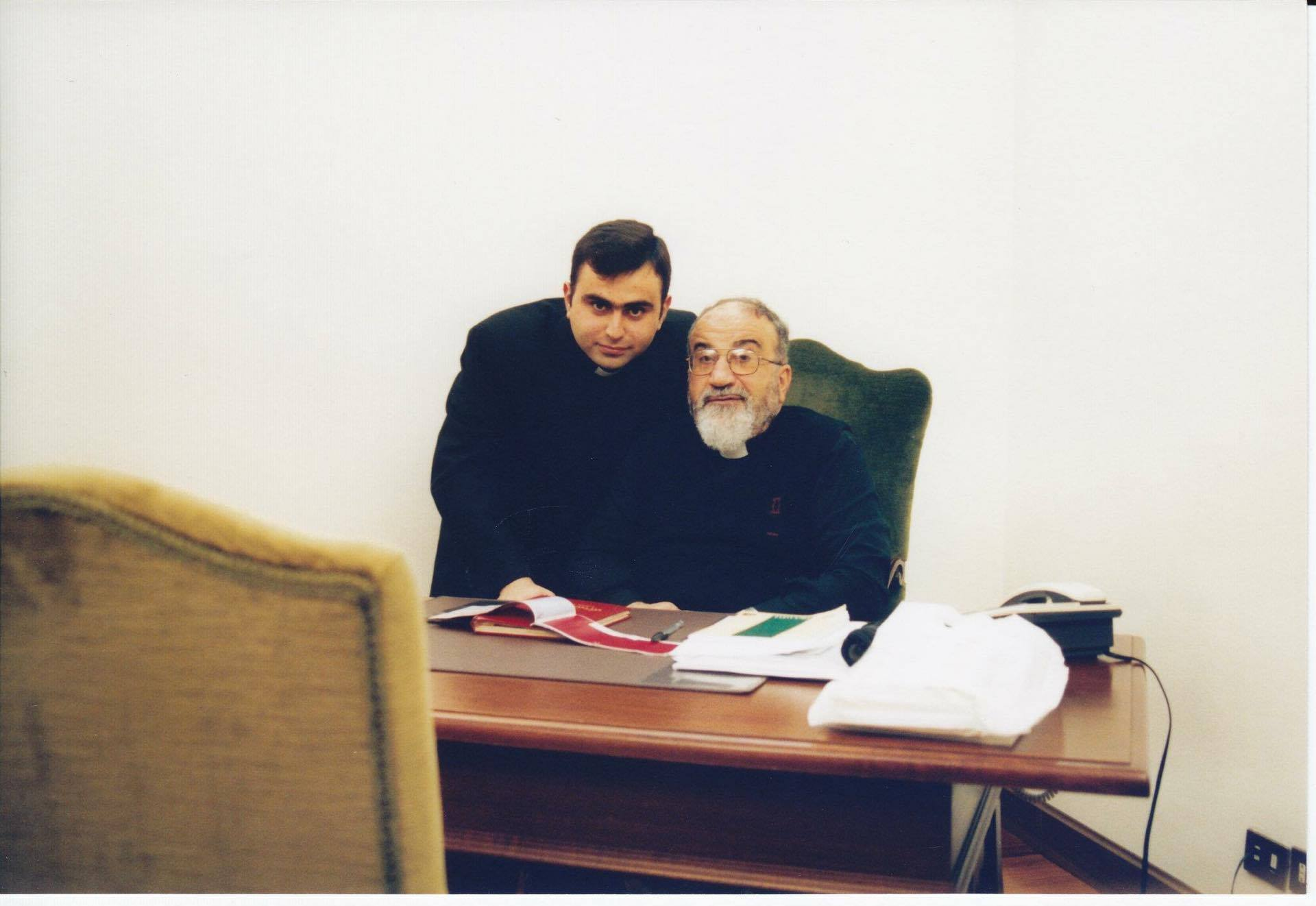 Amer Youkhanna with his friend bishop Paul Faraj Rahho, who was kidnapped and tortured to death.