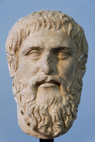 Plato. Luni marble, copy of the portrait made by Silanion ca. 370 BC for the Academia in Athens. (Image: via wikipedia / CC0 1.0)