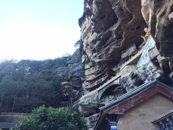 Temple along the flank of a cliff. Not far from Shi Xi village, Yunnan, China. Photo: Tony Ying
