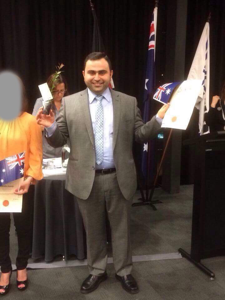 Amer Youkhanna became an Australian citizen in 2014