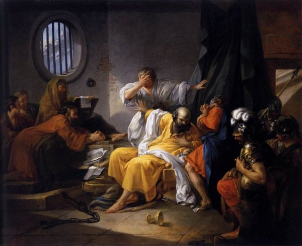 The death of Socrates. Artist: Jacques-Philippe-Joseph de Saint-Quentin 1738. (Image: via wikipedia / CC0 1.0)