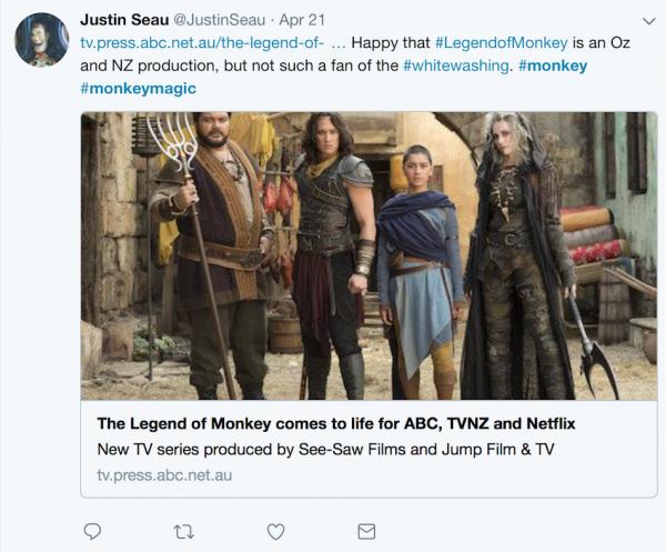 The Legend of Monkey, featuring cast (from left) Josh Thomson, Chai Hansen, Luciane Buchanan and Emilie Cocquerel.