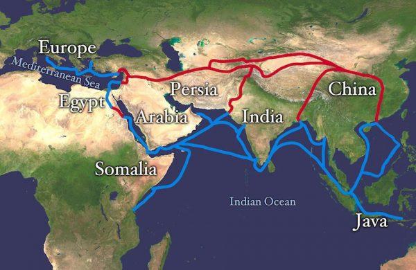 Silk Route Map. (Image: via wikimedia / CC0 1.0)