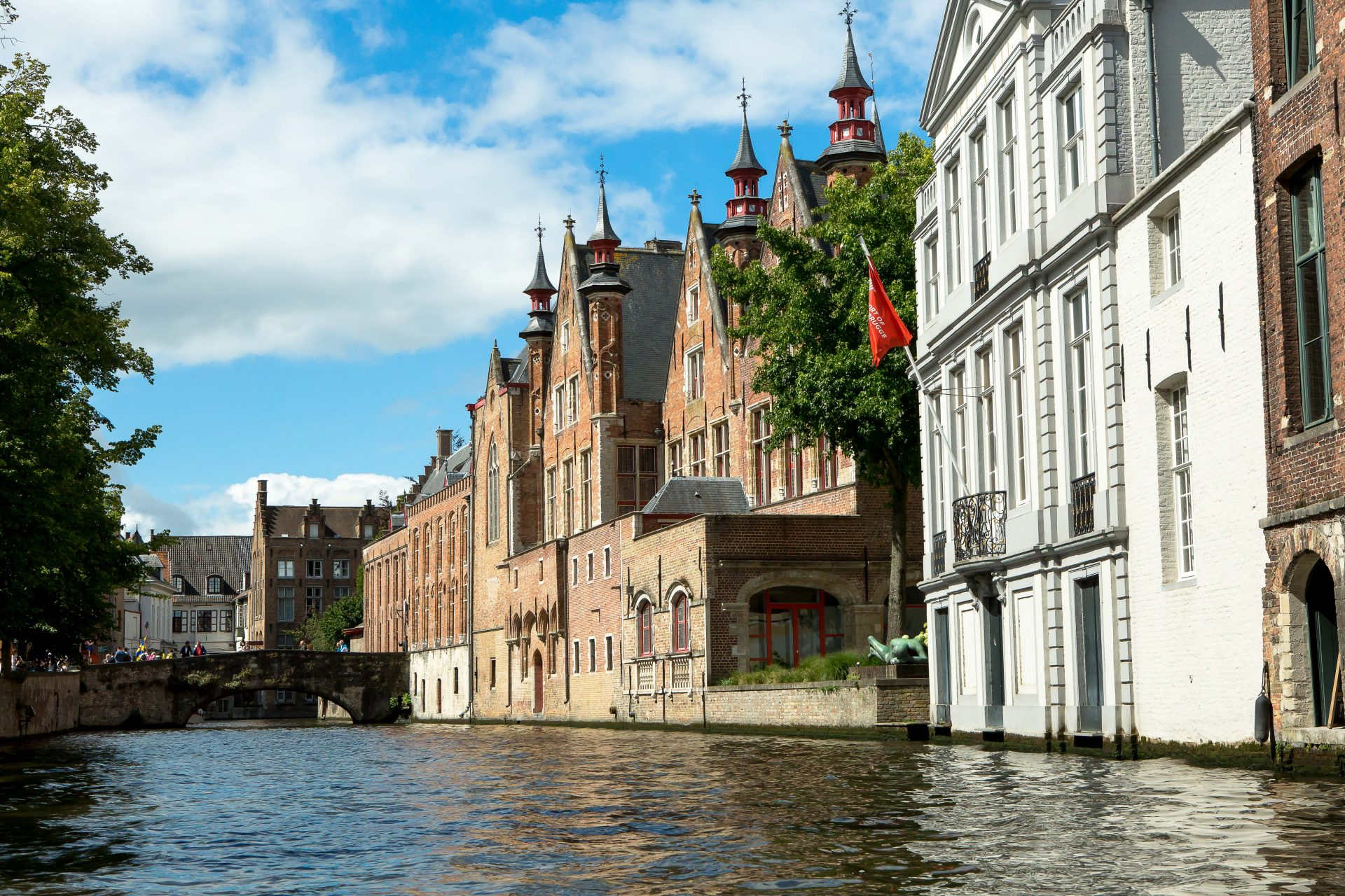 View of Bruges' medieval buildings from a boat on one of the cities canals. (Photo: Hermann Rohr for Nspirement)