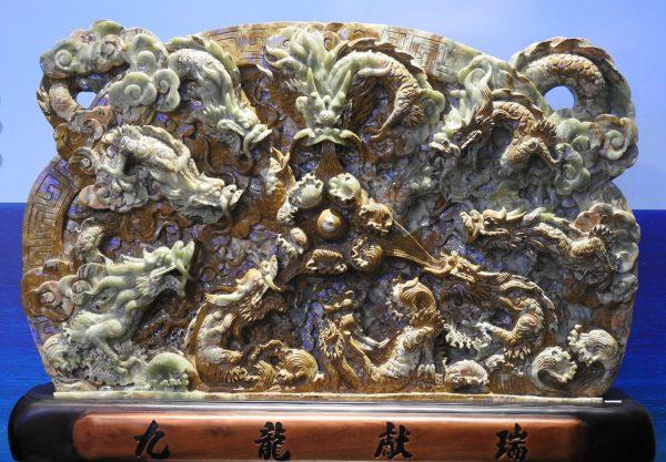 A jade carving displayed at Chii Lih Museum Yilan (Image: Billy Shyu/ Vision Times)