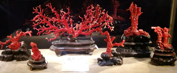 The red gemstone coral displayed in Chii Lih Museum (Image: Billy Shyu/ Vision Times)