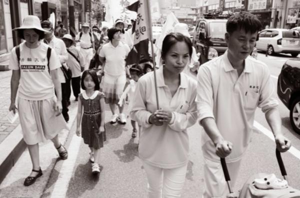 Chengnu is now living with her husband in Korea free to practice her belief. (Image via Jarrod Hall Vimeo/Screenshot)