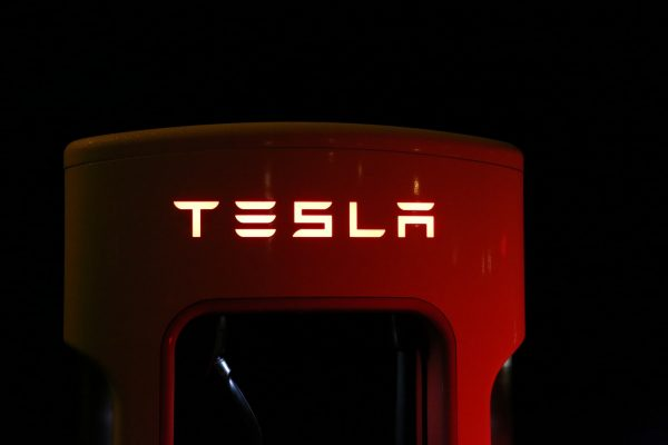 Tesla electrical filling station. (Photo Credit: Blomst, via ,Pixabay, CC0 1.0