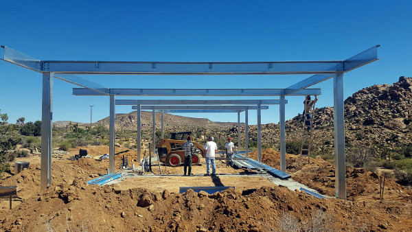Aluminum framing for residential construction. (Image: Jeremy Levine via flickr CC BY 2.0 )
