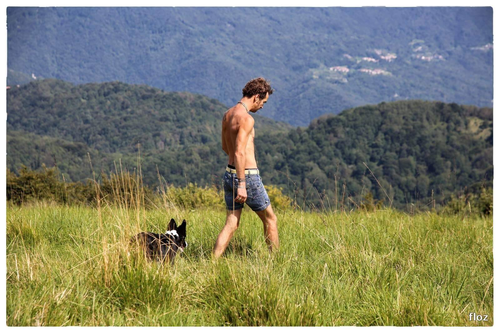 Jean François loves taking long walks in the nature with his dogs. (Image: courtesy of Florence Zumello)
