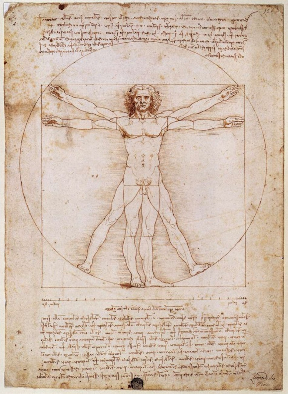 """Several artists of the Renaissance incorporated the golden mean in their works, not least of whom was Leonardo da Vinci, who used this proportion in well-known pieces such as """"The Last Supper"""" and """"The Vitruvian Man."""" (Image: cesar bojorquez via flickr CC BY 2.0 )"""