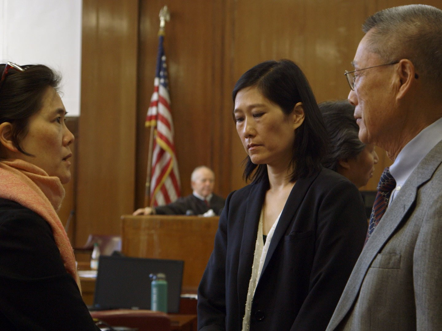 James spent the length of the three-month trial following the Sung family and trying to clear their name. (Image: Frontline/Screenshot)