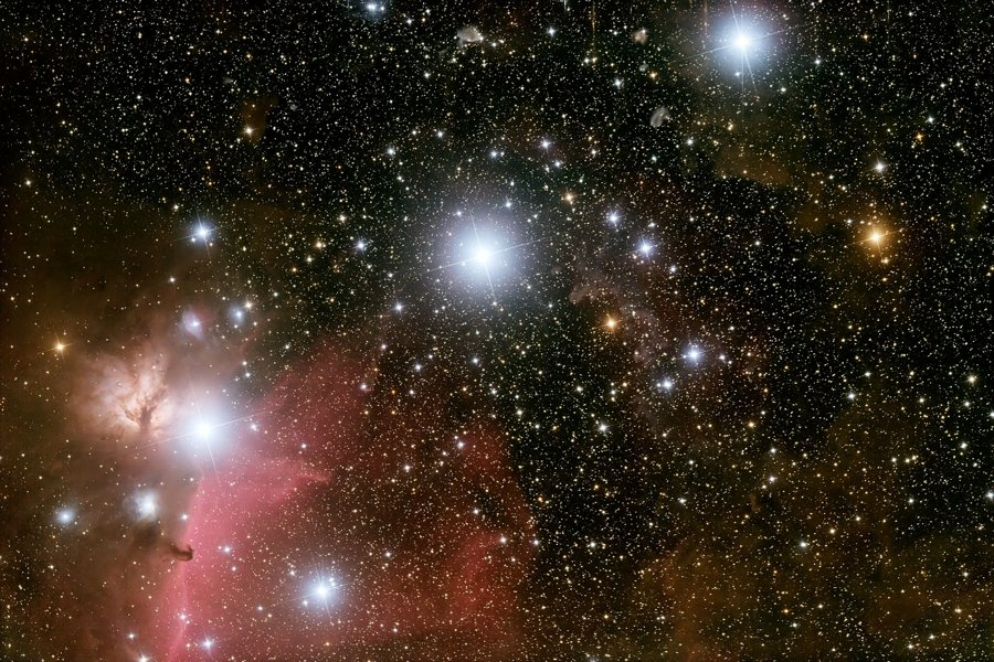 Orion's Belt: These three blue supergiant stars are hotter and much more massive than the Sun. Vision Times (Image Credit: Martin Mutti, Astronomical Image Data Archive, via NASA cc 1.0)