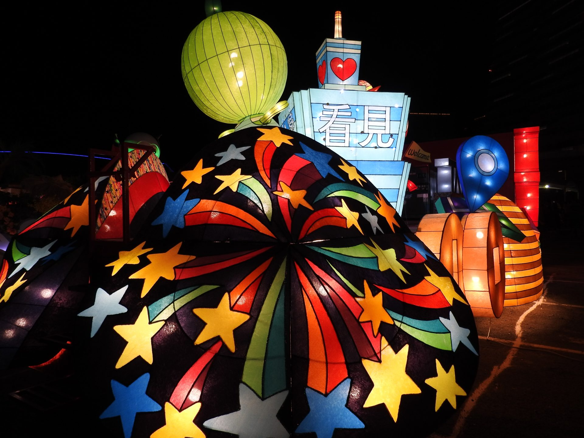 The float sponsored by the Taipei 101 Tower at the National Day parade. (Image: Billy Shyu/ Vision Times)