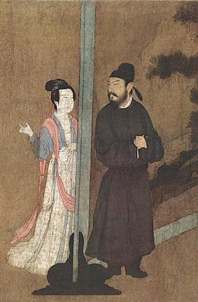 Gu Hongzhong (5 Dynasties), The Night Revels of Han Xizai, in Zhongguo lidai huihua: ( Image Credit: By Anonymous Song Chinese artist after the original by Gu Hongzhong [Public domain], via Wikimedia Commons)